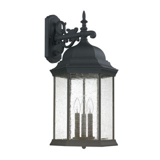 Capital Lighting Mainstreet Collection 3-light Black Outdoor Wall Lantern