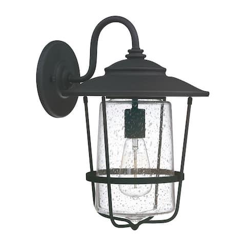 Creekside 1-light Black Outdoor Wall Lantern