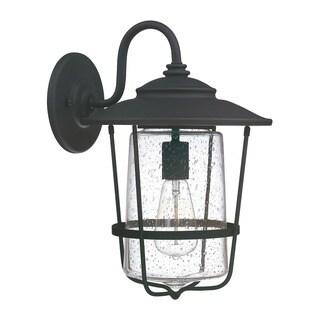 Capital Lighting Creekside Collection 1-light Black Outdoor Wall Lantern