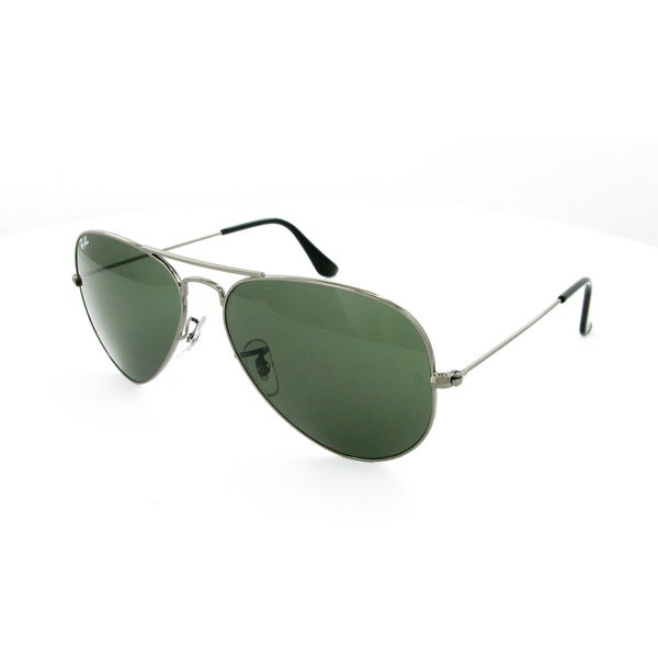 c0cab86f9d3 Ray-Ban Aviator RB3025 Unisex Gunmetal Frame Green Classic Lens Sunglasses