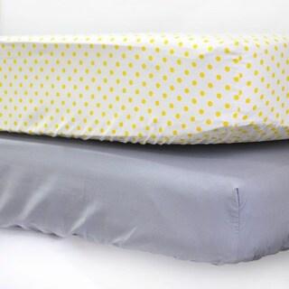 Pam Grace Creations Argyle Giraffe Crib Sheets (Set of 2)