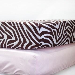 Pam Grace Creations Zara Zebra Crib Sheets (Set of 2)