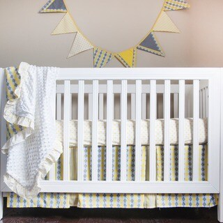 Pam Grace Creations Simply Argyle 4-Piece Crib Bedding Set