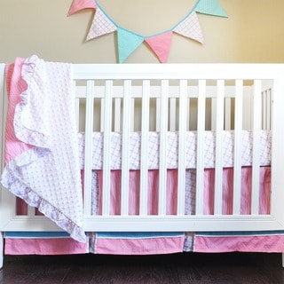 Pam Grace Creations Simply Striking 4-Piece Crib Bedding Set