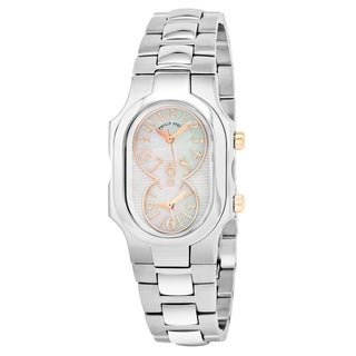 Philip Stein Women's 'Signature' Mother of Pearl Dial Stainless Steel Bracelet Swiss Quartz Watch