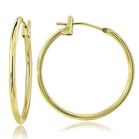 Mondevio 10k Gold Round Hoop Earrings