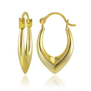Mondevio 10k Gold Oval Hoop Earrings