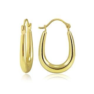 Mondevio 10k Gold 'U'-shape Hoop Earrings