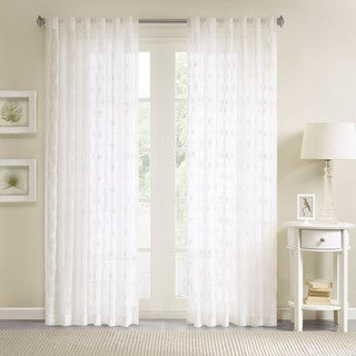 Link to Madison Park Kida Embroidered Sheer Curtain Panel Similar Items in Window Treatments