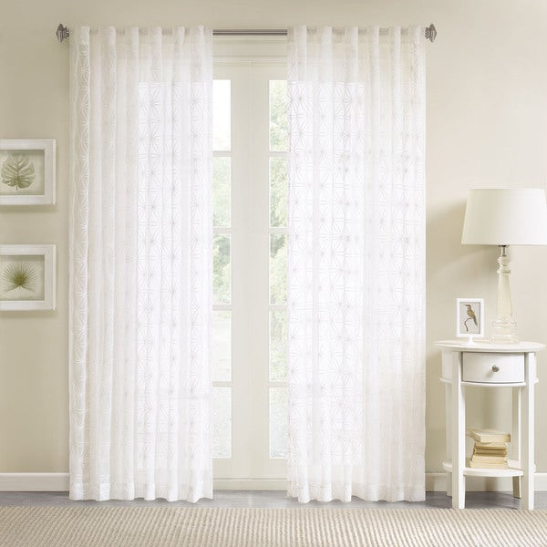 Madison Park Kida Embroidered Sheer Curtain Panel. Opens flyout.