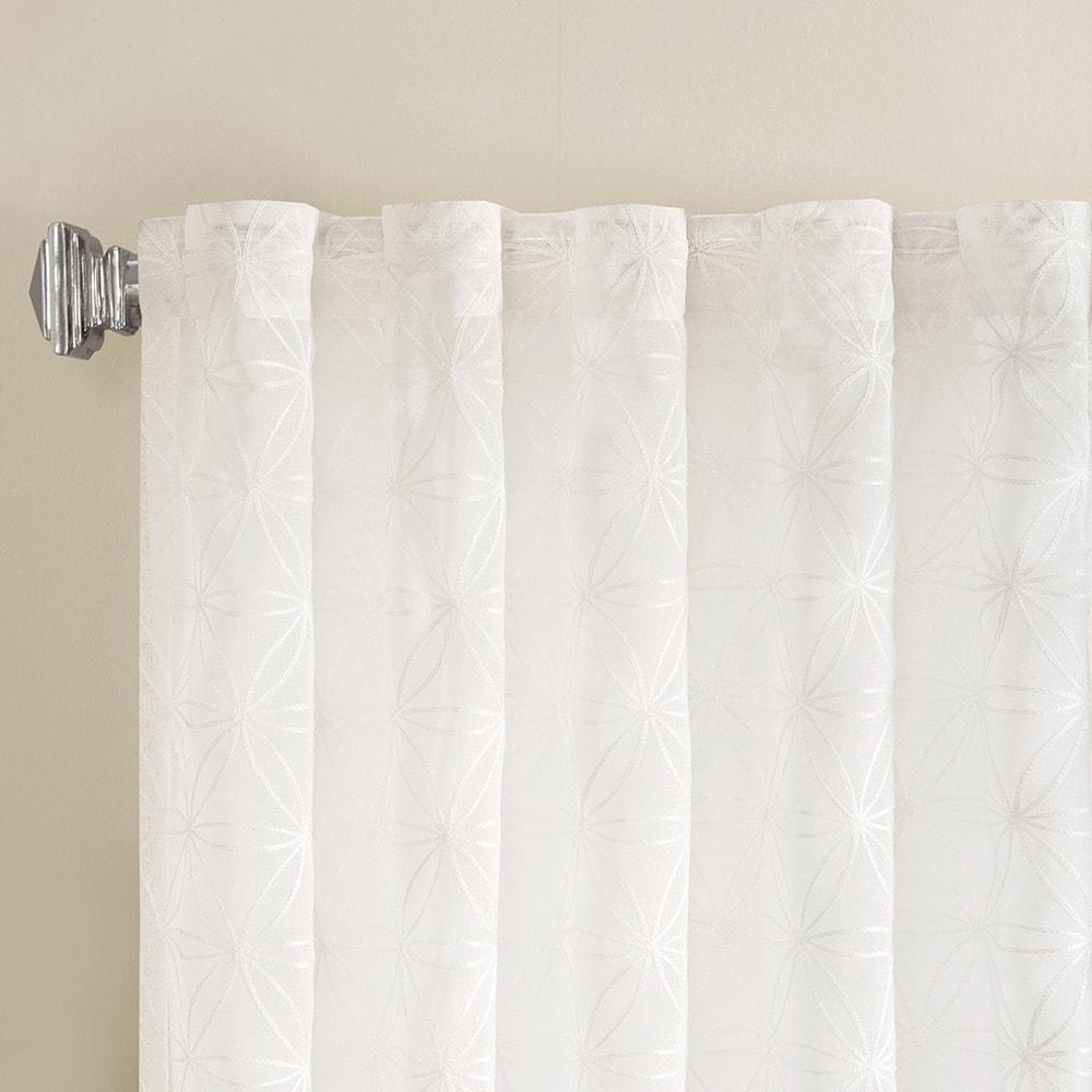 Shop Madison Park Kida Embroidered Sheer Curtain Panel - 10383693