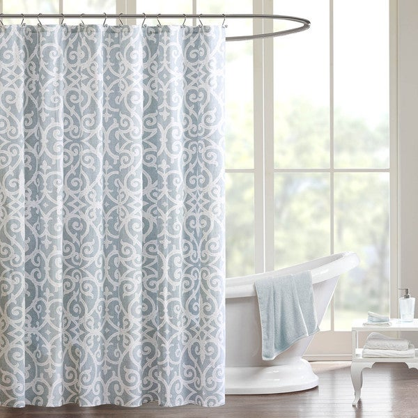 Madison Park Pure Lucia Cotton Shower Curtain Free