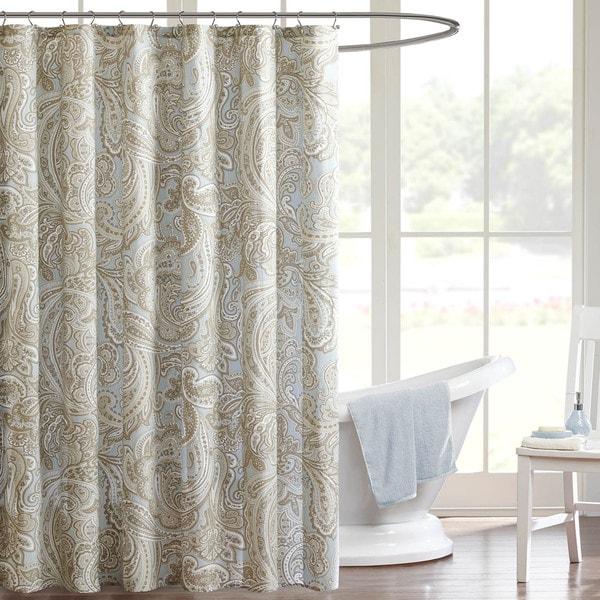 Madison Park Pure Dermot Cotton Shower Curtain 2 Color Options Free Shipp
