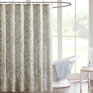 Madison Park Pure Dermot Cotton Shower Curtain - 2 Color Options
