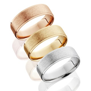 Bliss 14k Gold Men's 6mm Brushed Wedding Band (More options available)