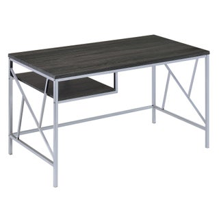 Furniture of America Nara Contemporary Two-Tone Metal Desk (2 options available)