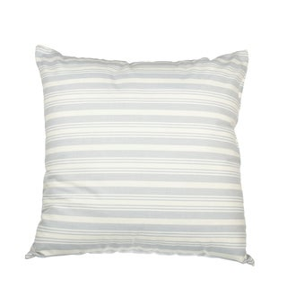 Blue Pinpoint Cotton Down Alternative Filled 18-inch Throw Pillow