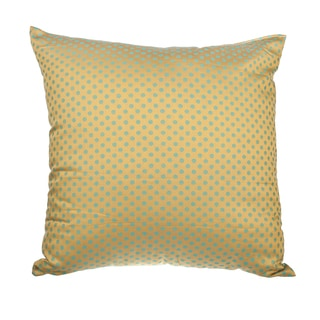 Gold Jacquard Dot Down Alternative Filled 18-inch Throw Pillow