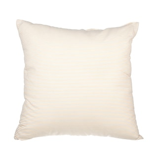 Khaki Seersucker Down Alternative Filled 18-inch Throw Pillow