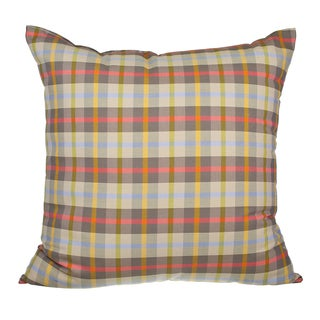 Winston Plaid Down Alternative Filled 18-inch Throw Pillow
