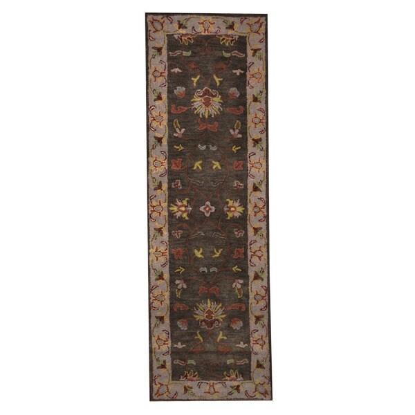 Herat Oriental Indo Hand-Tufted Mahal Wool Runner (2'7 x 8')