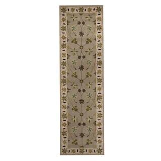 Herat Oriental Indo Hand-tufted Tabriz Wool Runner (2'4 x 8')