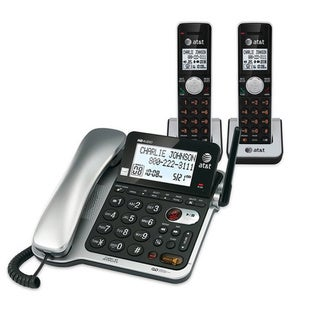 AT&T CL84202 2-handset Corded/ Cordless Answering System with Caller ID