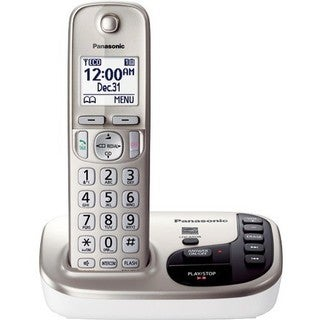 Panasonic KX-TGD220N DECT 6.0 Expandable Digital Cordless Answering System (Refurbished)