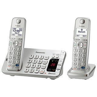 Panasonic KX-TGE272S DECT 6.0 Expandable Digital Cordless Answering System with 2 Handsets (Refurbished)