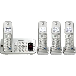 Panasonic KX-TGE274S DECT 6.0 Expandable Digital Cordless Answering System with 4 Handsets (Refurbished)