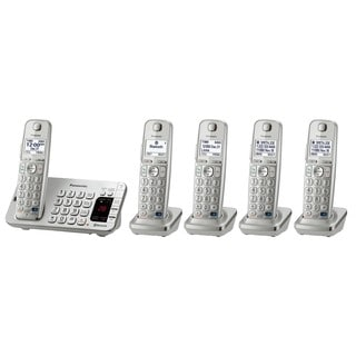 Panasonic KX-TGE275S DECT 6.0 Expandable Digital Cordless Answering System with 5 Handsets (Refurbished)