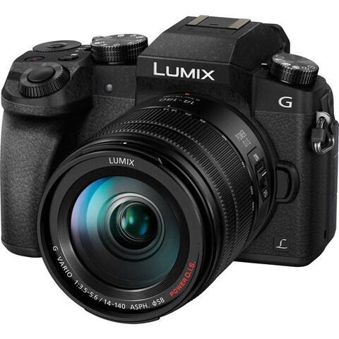 Panasonic LUMIX DMC-G7HK Digital Single Lens Mirrorless Camera 14-140 mm Lens Kit, 4K (Black)