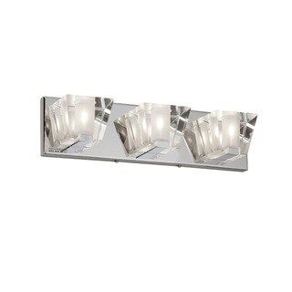 Dainolite 3-light Sconce Fixture with Optical Crystal Shade in Polished Chrome Finish