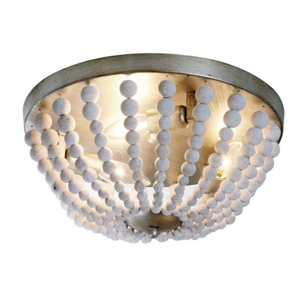 shop dainolite 3 light flush mount fixture in white washed wood with