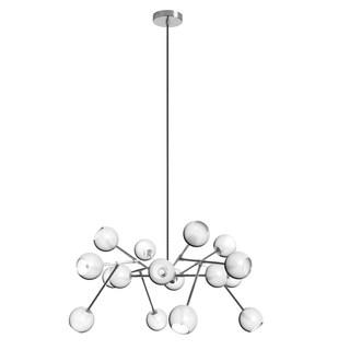 Dainolite 16-light Glass Ball Chandelier in Satin Chrome Finish