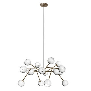 Dainolite 16-light Glass Ball Chandelier in Vintage Bronze Finish