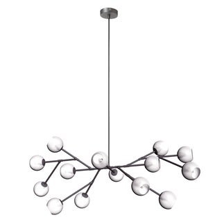 Dainolite 14-light Glass Ball Chandelier in Vintage Steel Finish