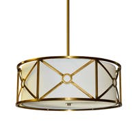 Dainolite 3-light Steel & Fabric Pendant in Vintage Bronze Finish - Vintage Bronze