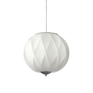 Dainolite 1-light Cocoon Pendant in Satin Chrome Hardware