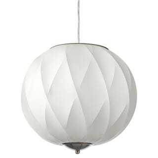 Dainolite 2-light Cocoon Pendant in Satin Chrome Hardware