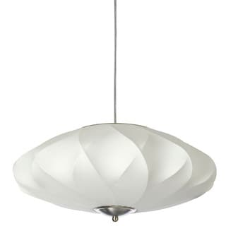 Dainolite 3-light Cocoon Pendant in Satin Chrome Hardware