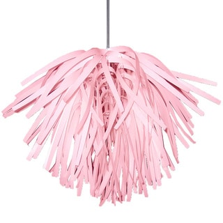 Dainolite 1-light Vinyl Pendant in Pink with Chrome Hardware