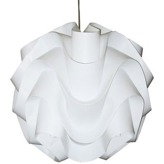 Dainolite 1-light Vinyl Pendant in White with Satin Chrome Hardware