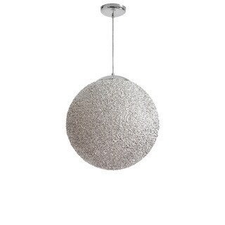 Dainolite 2-light 20'' Diameter Acrylic Pendant in Chrome with Polished Chrome Hardware - Silver