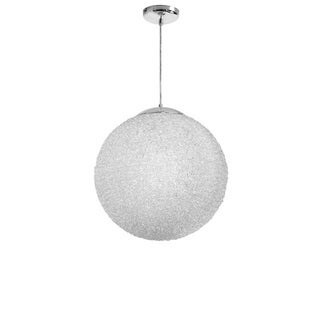 Dainolite 2-light 20'' Diameter Acrylic Pendant in Clear with Polished Chrome Hardware - Chrome/Clear