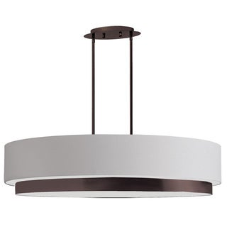 Dainolite 4-light Oval Pendant in Vintage Oiled Brushed Bronze