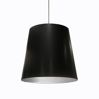 Dainolite 1-light Oversized Drum Pendant with Black on Silver Shade in Large