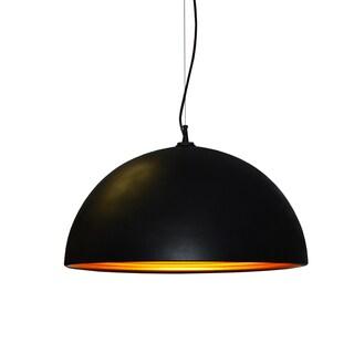 Dainolite 1-light Pendant in Matte Black Gold