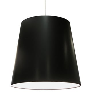 Dainolite 1-light Oversized Drum Pendant with Black on White Shade in X-Large