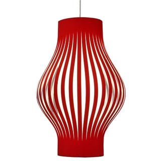 Dainolite 6-light Foyer Lantern with Red Shade with Polished Chrome Hardware